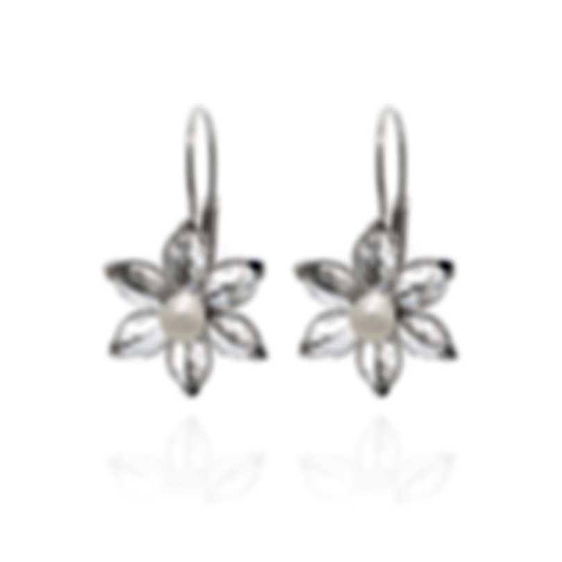 Mimi Milano Fiori 18k White Gold And Pearl Earrings F0203B1J