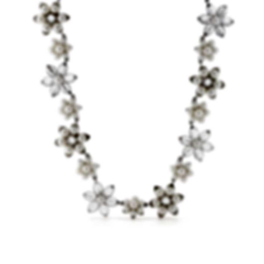 Mimi Milano Fiori 18k White Gold And Pearl Necklace FC09B1J