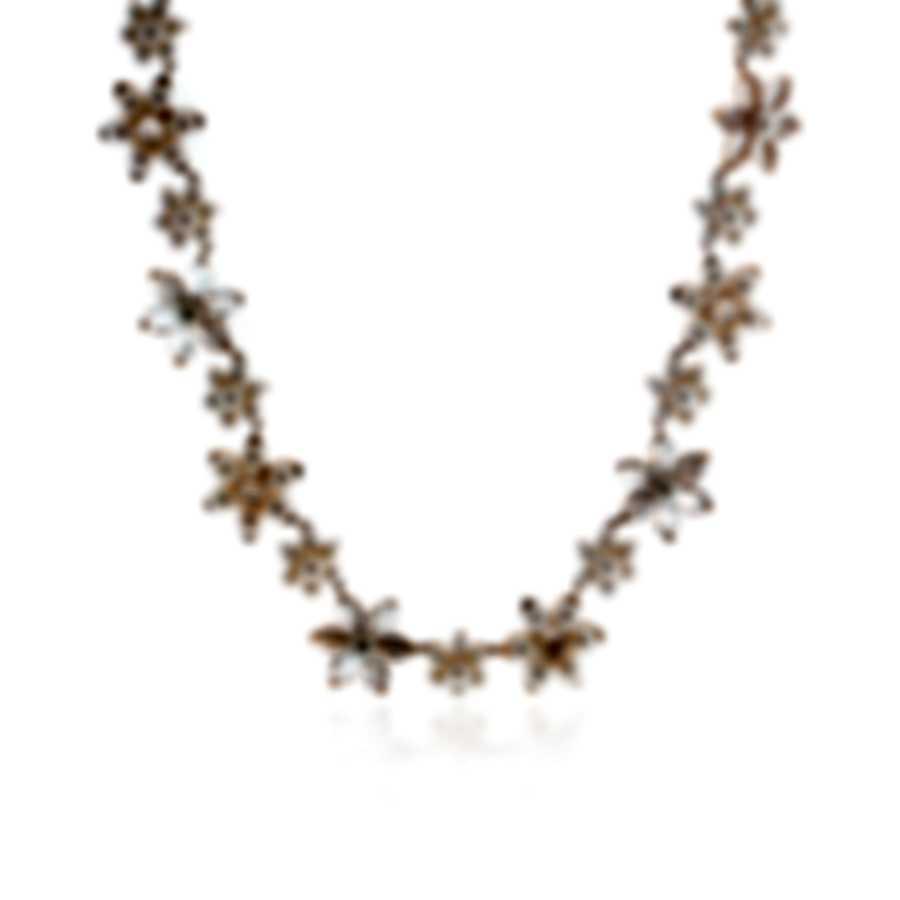 Mimi Milano Fiori 18k Rose Gold And Pearl Necklace FC09R1J