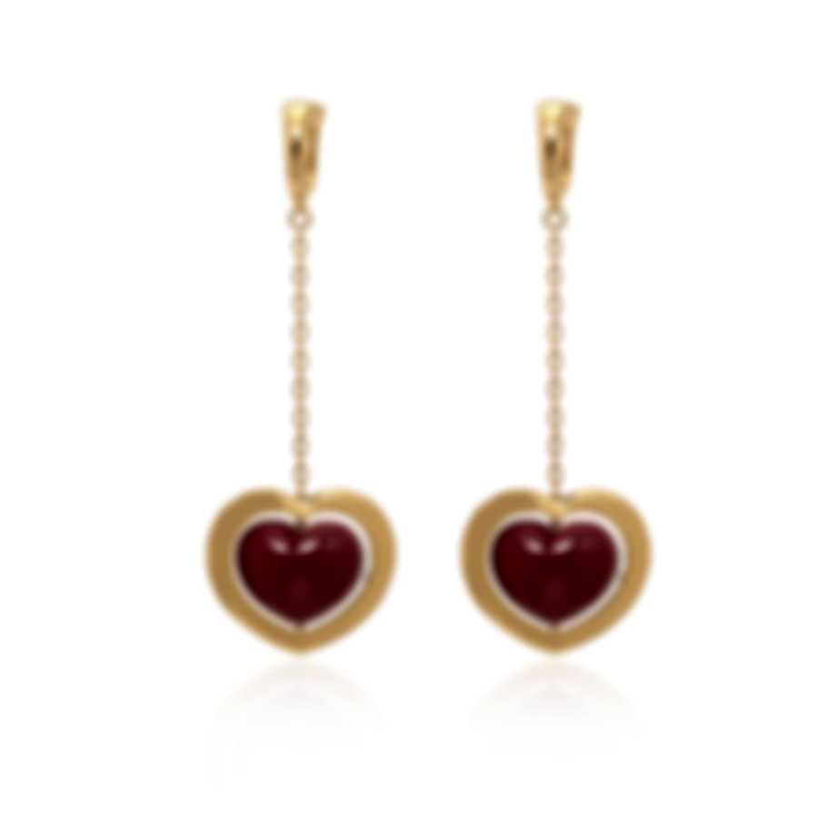 Mimi Milano Giulietta E Romeo 18k Yellow Gold And Coral Earrings OLM308G8P8