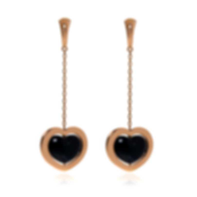 Mimi Milano Giulietta E Romeo 18k Rose Gold And Onyx Earrings OLM308R8O