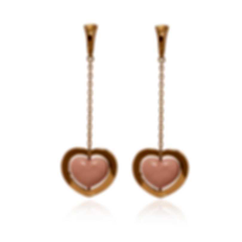 Mimi Milano Giulietta E Romeo 18k Rose Gold And Coral Earrings OLM308R8P2