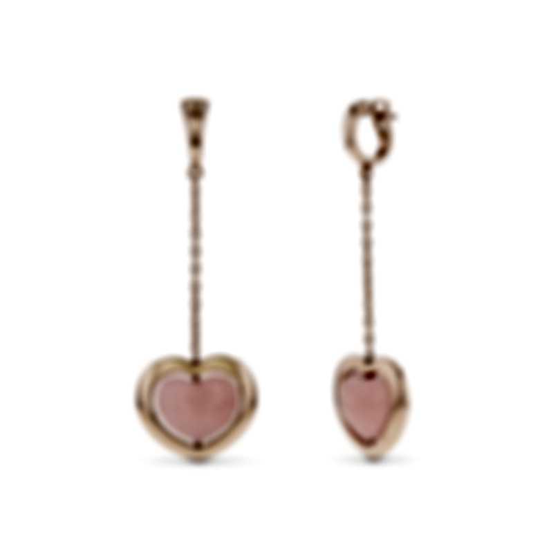 Mimi Milano Giulietta E Romeo 18k Rose Gold Rose Quartzite Earrings OLM308R8Q2