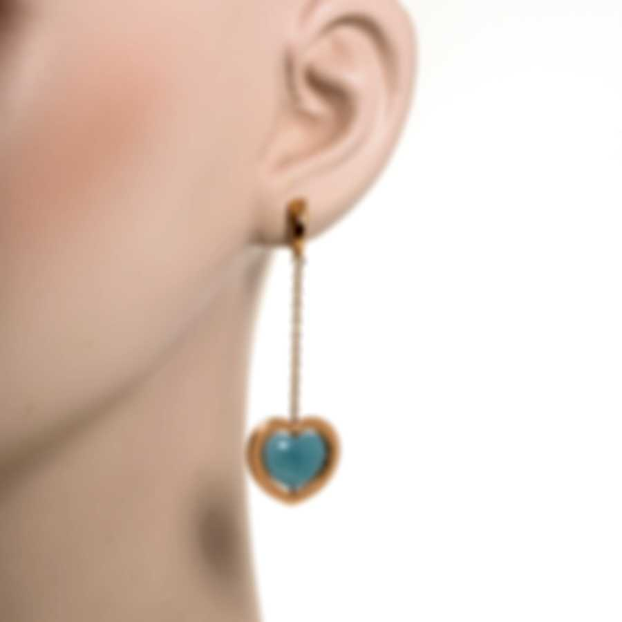 Mimi Milano Giulietta E Romeo 18k Rose Gold Blue Quartzite Earrings OLM308R8Q6