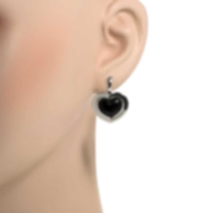 Mimi Milano Giulietta E Romeo 18k White Gold And Onyx Earrings OLM309B8O
