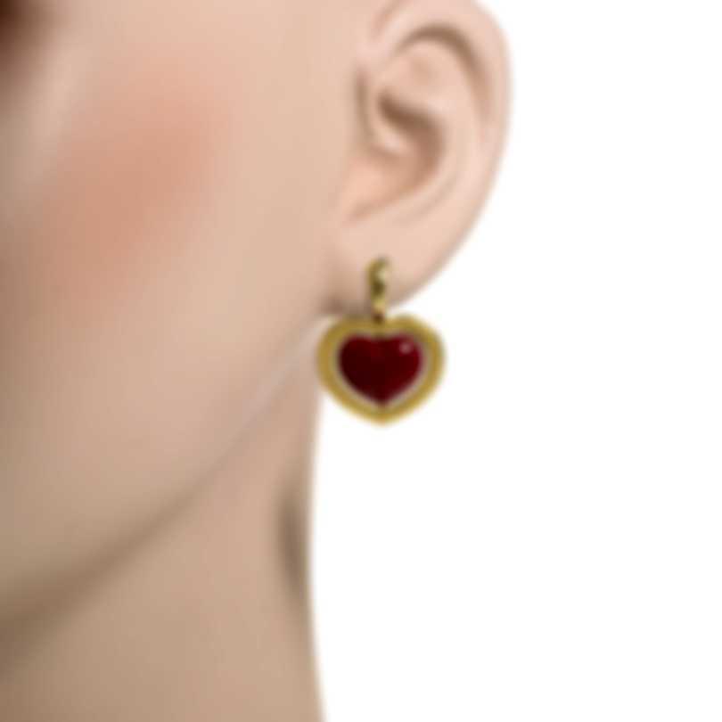 Mimi Milano Giulietta E Romeo 18k Yellow Gold And Orange Paste Earrings OLM309G8P8