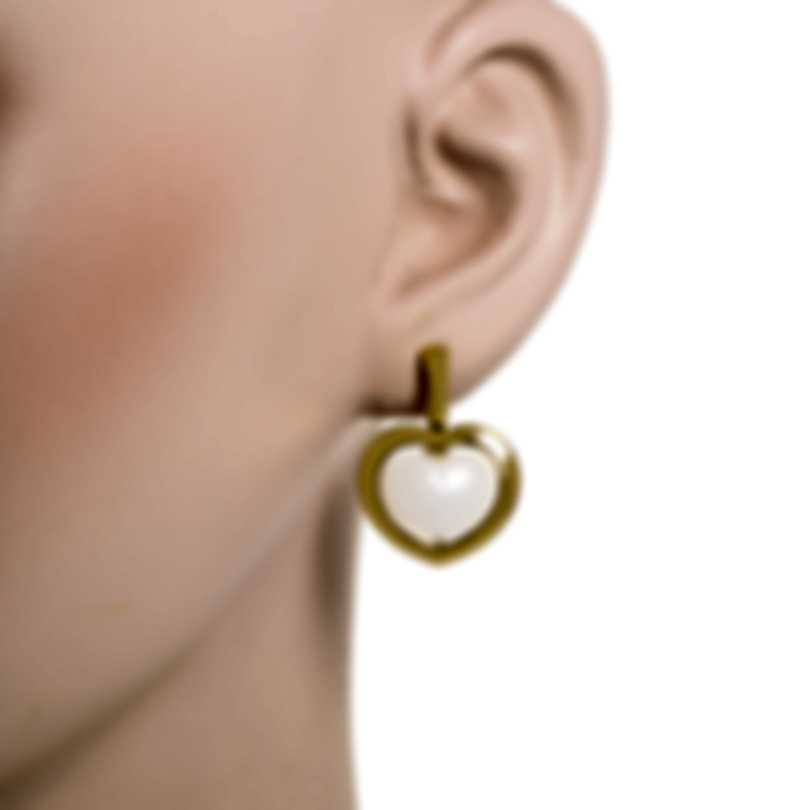 Mimi Milano Giulietta E Romeo 18k Yellow Gold Quartzite Earrings OLM309G8Q1