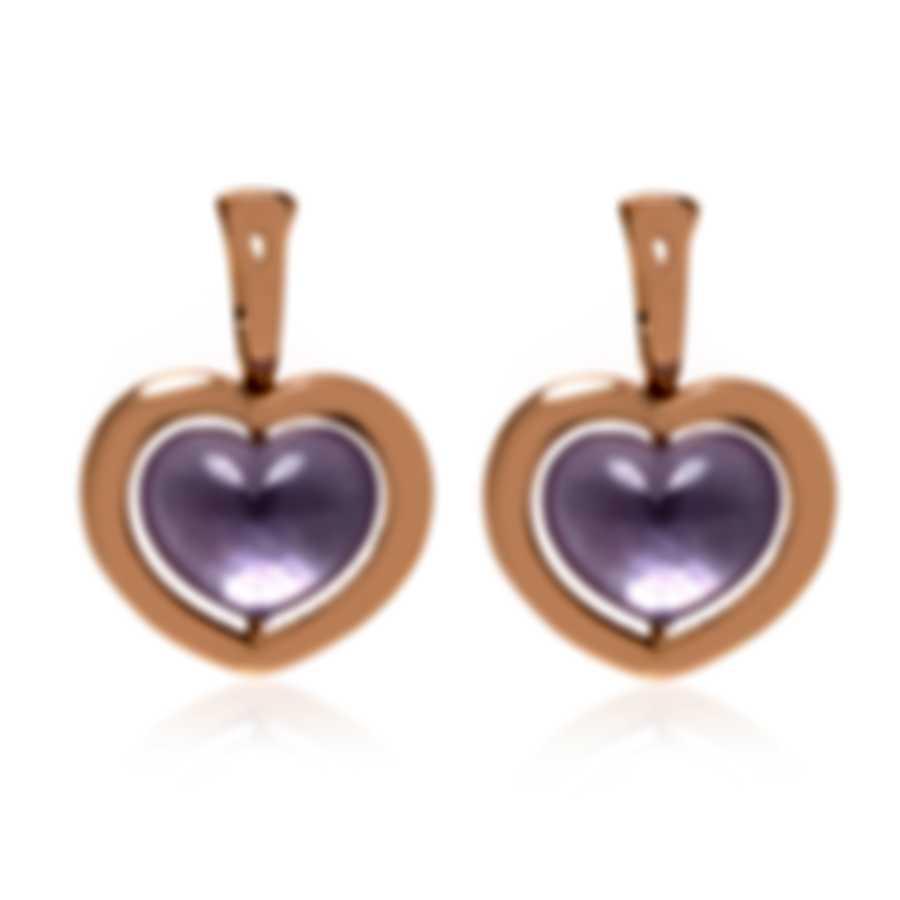 Mimi Milano Giulietta E Romeo 18k Rose Gold And Amethyst Earrings OLM309R8A
