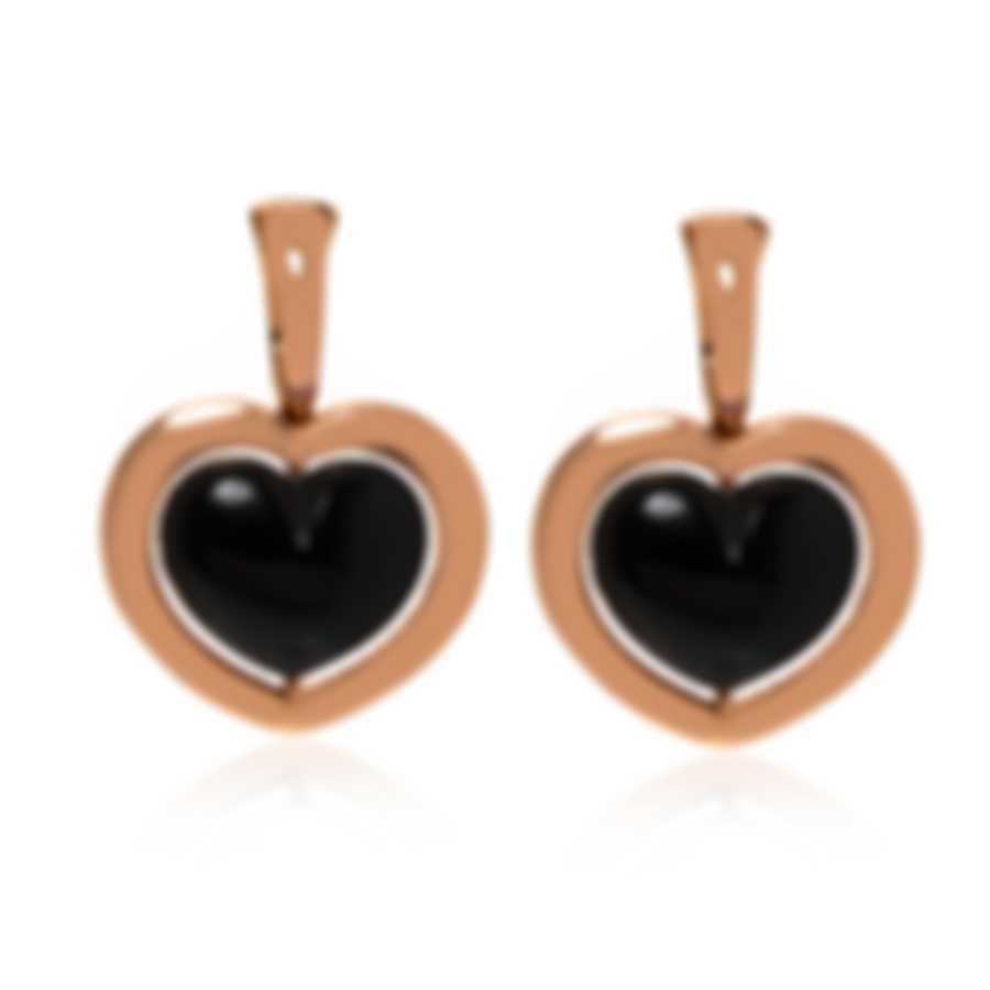 Mimi Milano Giulietta E Romeo 18k Rose Gold And Onyx Earrings OLM309R8O