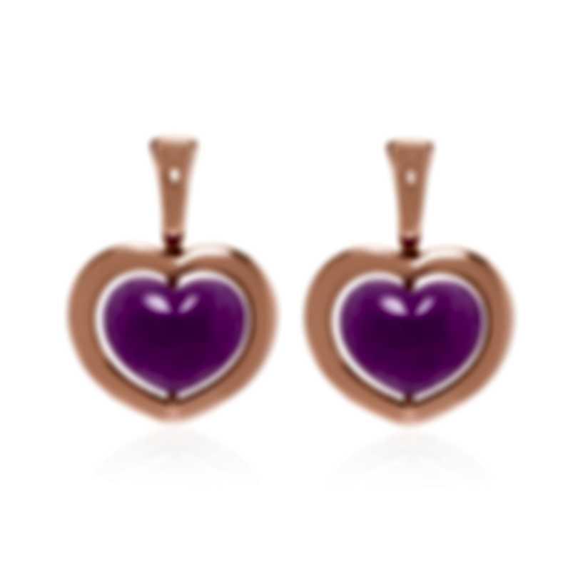 Mimi Milano Giulietta E Romeo 18k Rose Gold Quartzite Earrings OLM309R8Q10