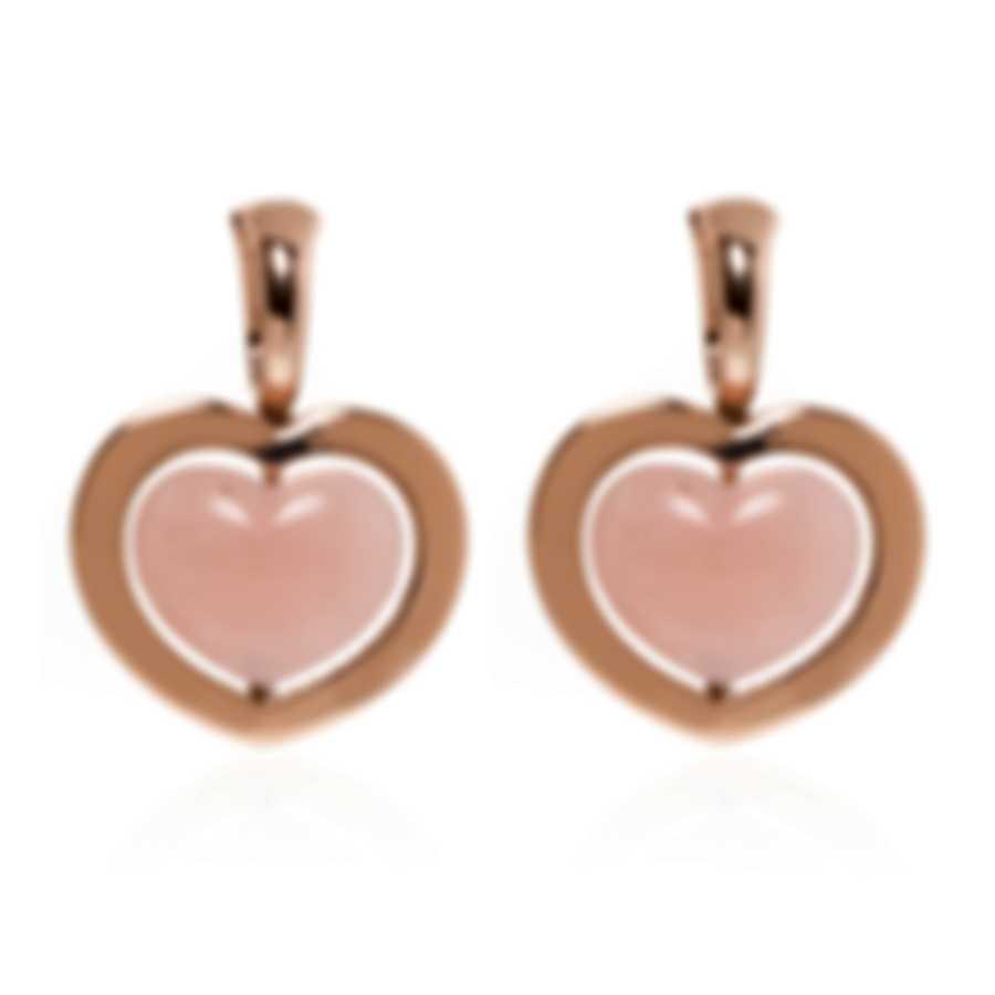 Mimi Milano Giulietta E Romeo 18k Rose Gold Rose Quartzite Earrings OLM309R8Q2