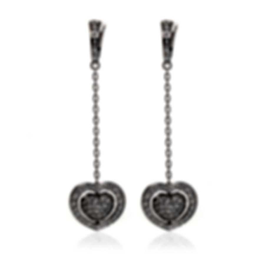 Mimi Milano Giulietta E Romeo 18k White Gold Diamond 1.28ct Earrings OLM319B8B