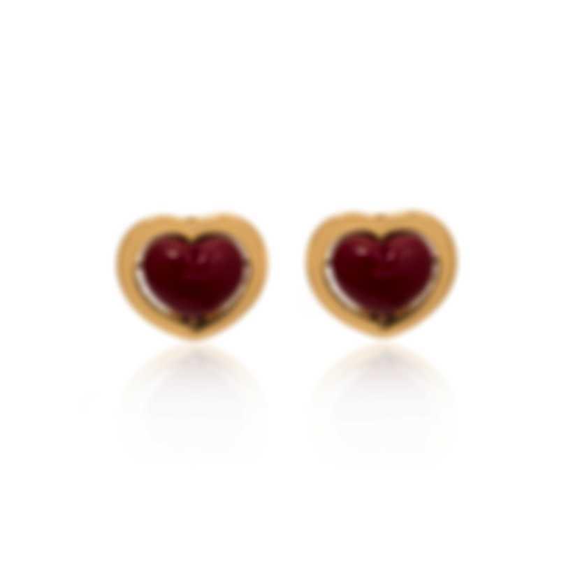 Mimi Milano Giulietta E Romeo 18k Yellow Gold And Coral Earrings OLM310G8P8
