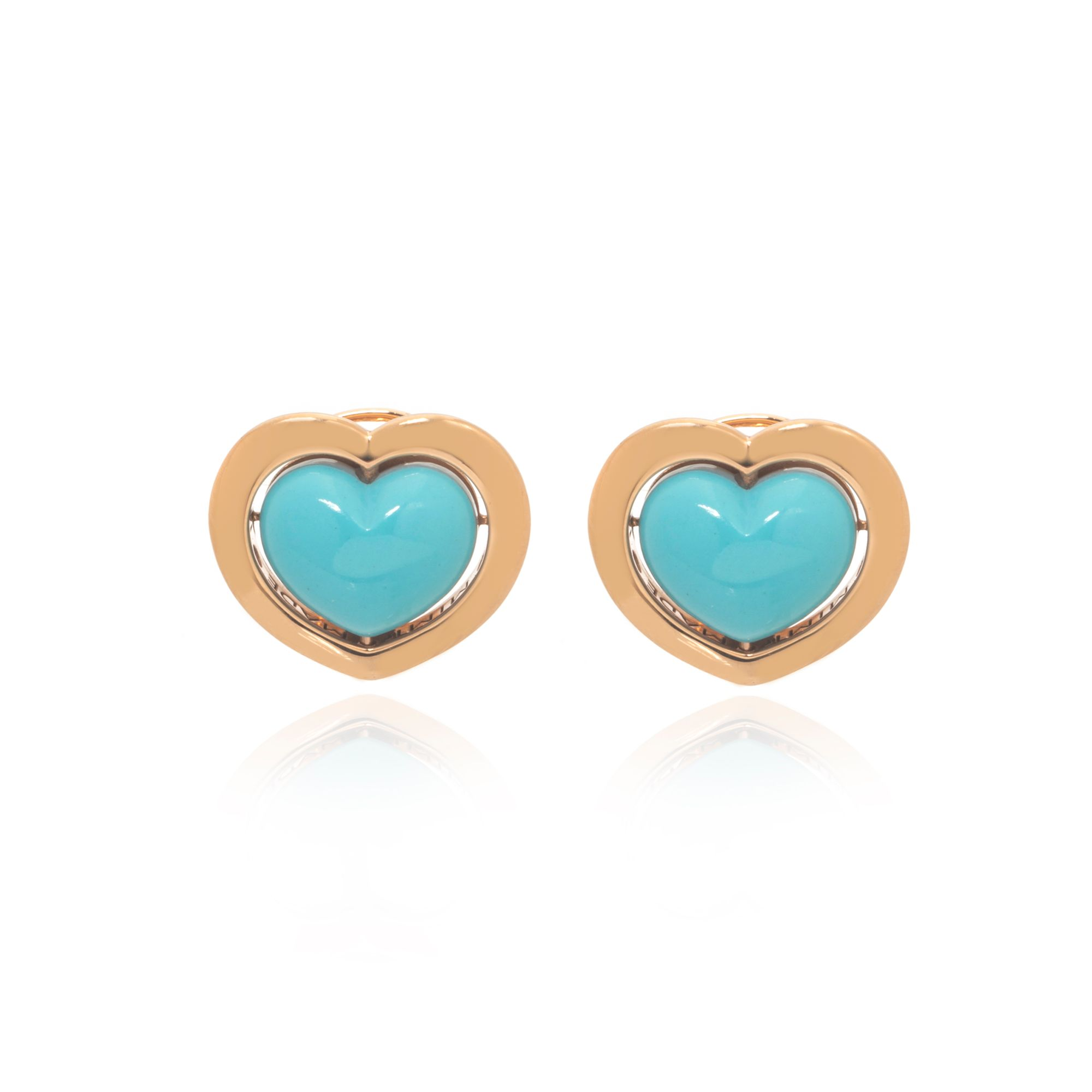 Mimi Milano Giulietta E Romeo 18k Rose Gold And Turquoise Earrings