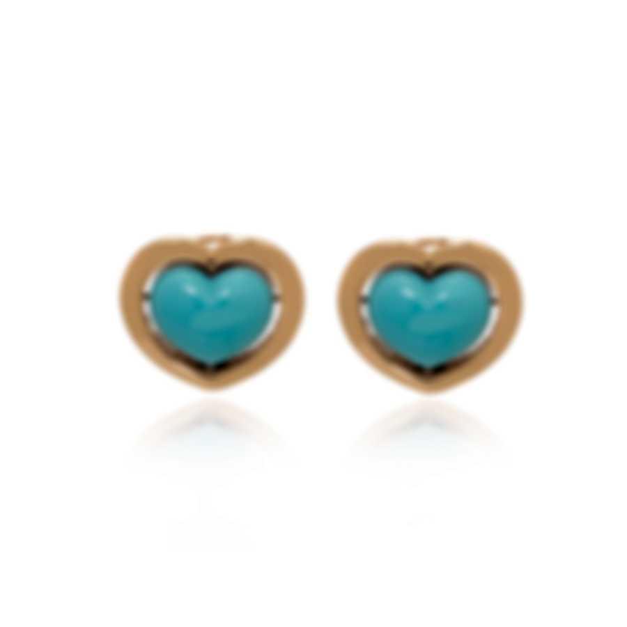 Mimi Milano Giulietta E Romeo 18k Rose Gold And Turquoise Earrings OLM310R8P19