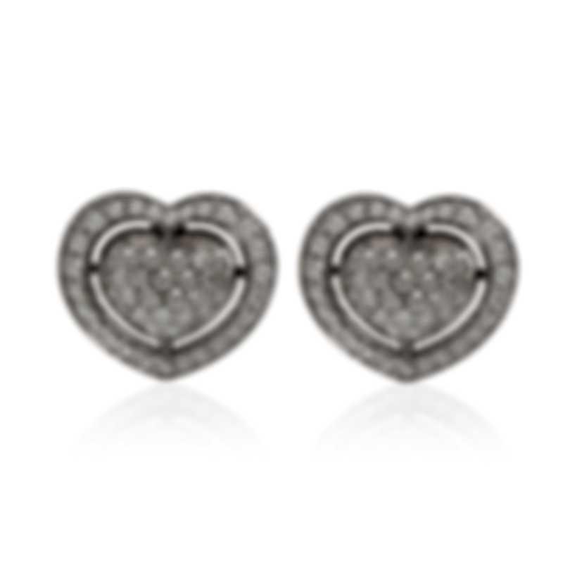 Mimi Milano Giulietta E Romeo 18k White Gold Diamond 1.05ct Earrings OLM330B8B
