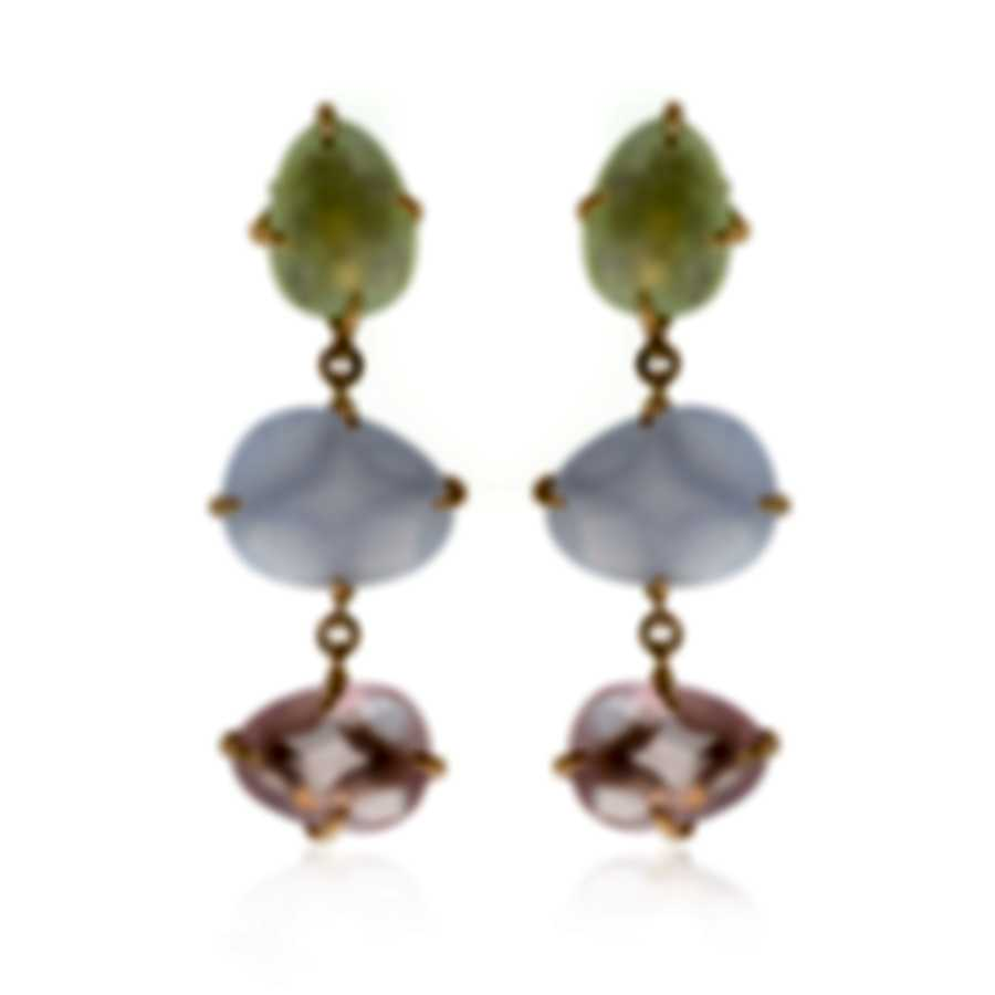 Mimi Milano Mila 18k Rose Gold And Chalcedony Earrings OX573R8X