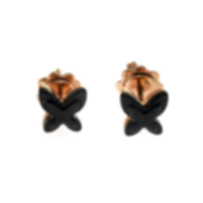 Mimi Milano Freevola 18k Rose Gold And Onyx Earrings OXM242R8O