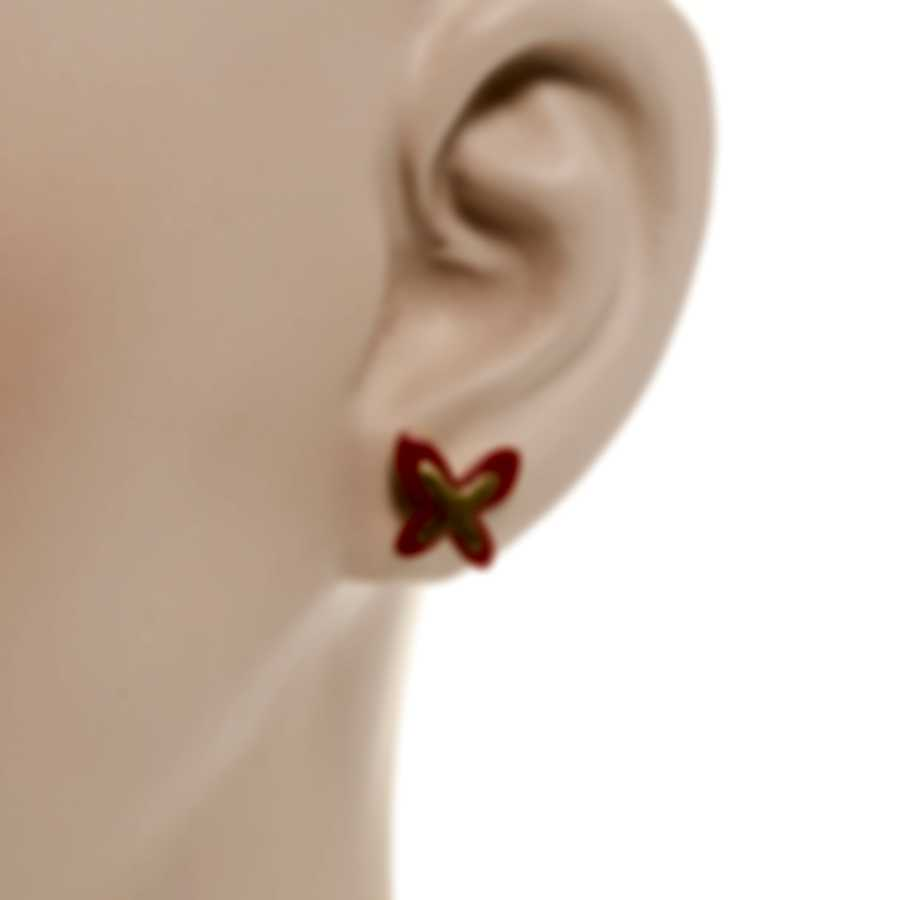 Mimi Milano Freevola 18k Yellow Gold And Coral Paste Earrings OXM243G8P8