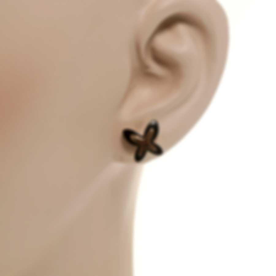 Mimi Milano Freevola 18k Rose Gold And Onyx Earrings OXM243R8O