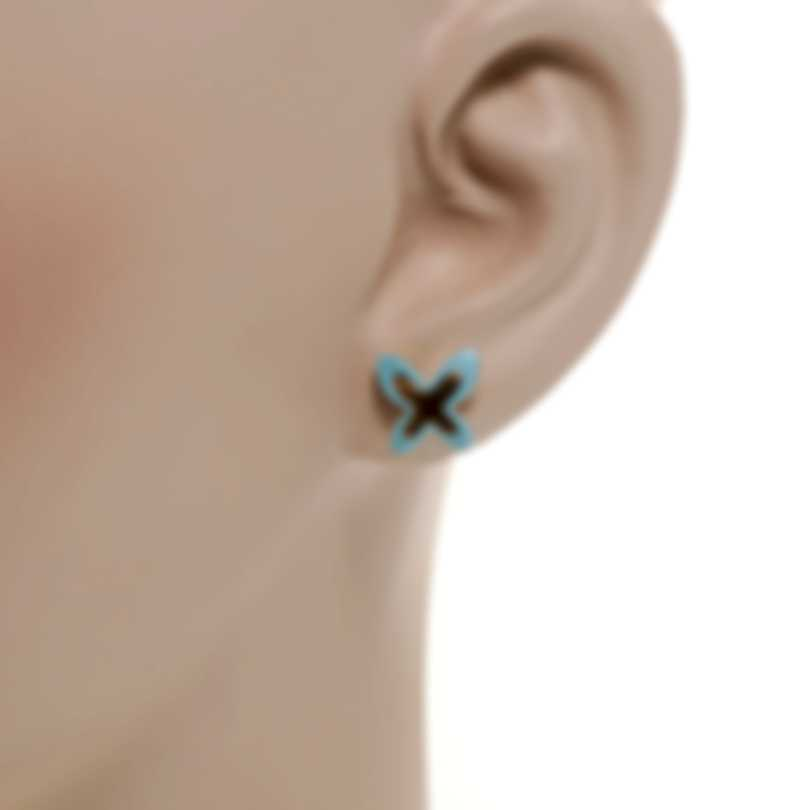 Mimi Milano Freevola 18k Rose Gold And Turquoise Paste Earrings OXM243R8P19