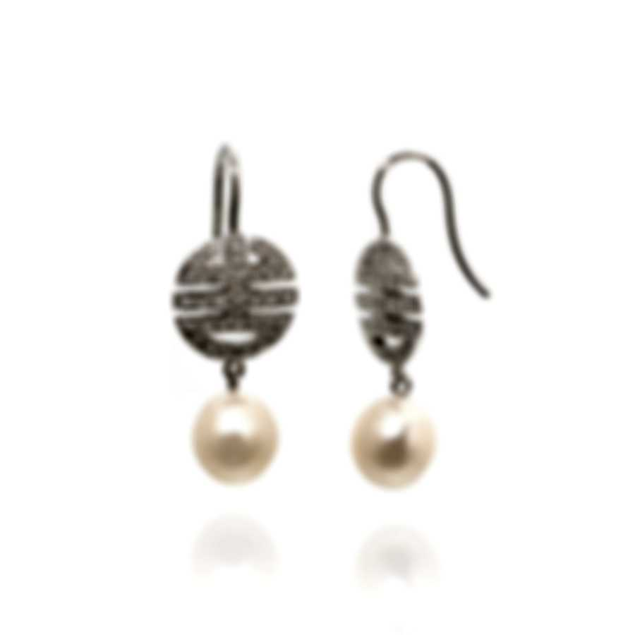 Mimi Milano Ognibene 18k White Gold Diamond 0.54ct And Pearl Earrings O061A01