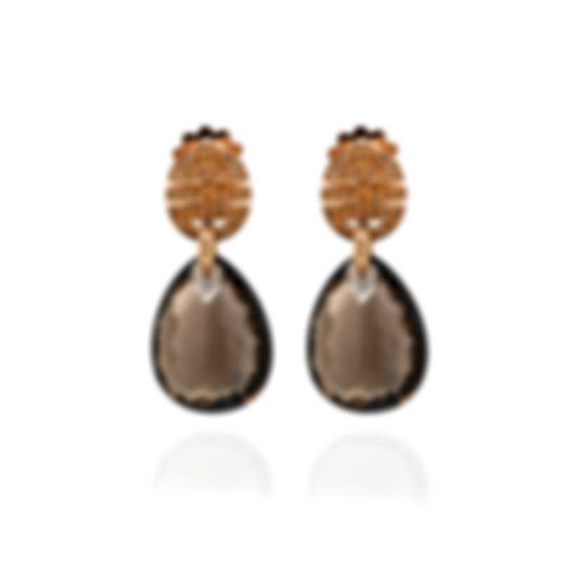 Mimi Milano Ognibene 18k White Gold Diamond 0.41ct And Quartz Earrings O071R8FM