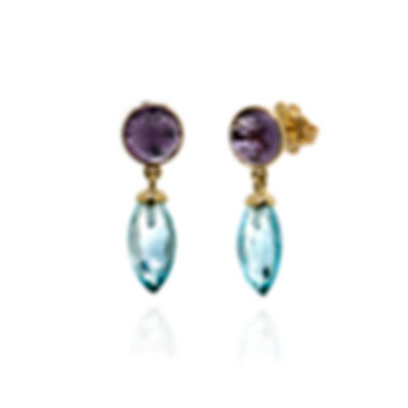 Mimi Milano Gocce 18k Yellow Gold And Amethyst Earrings O031A0A-A