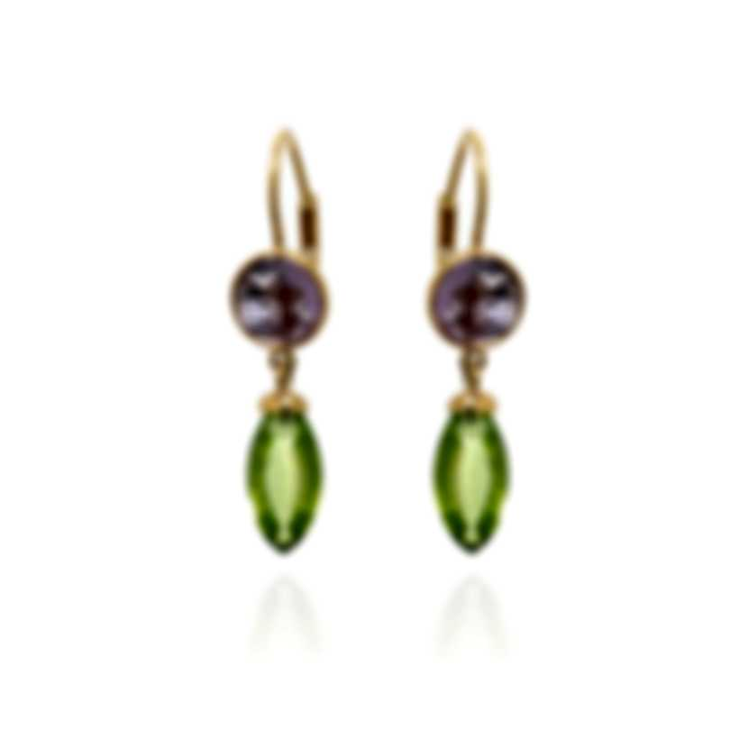 Mimi Milano Gocce 18k Yellow Gold And Amethyst Earrings O031AAP
