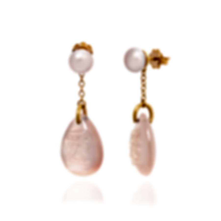 Mimi Milano Ideogrammi 18k Rose Gold And Quartz Earrings O155RQ3-A