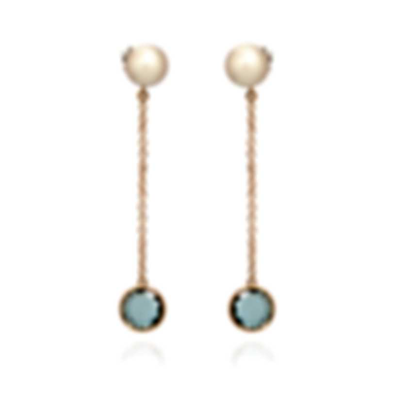Mimi Milano EN 18k Rose Gold And Sterling Silver And Pearl Earrings O172R3T