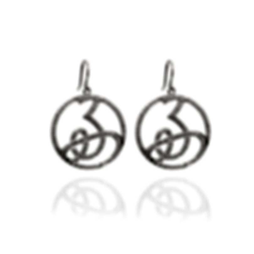 """Mimi Milano Ideogrammi """"Good"""" 18k White Gold Diamond 3.42ct Earrings O104BZZ"""