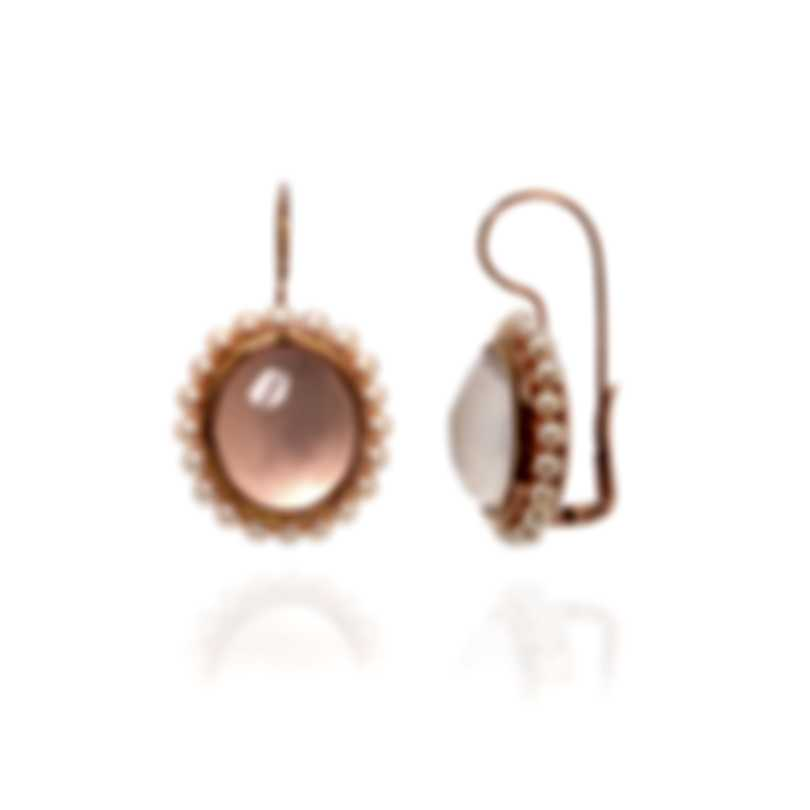 Mimi Milano Cameo 18k Rose Gold And Quartz Earrings O104R017