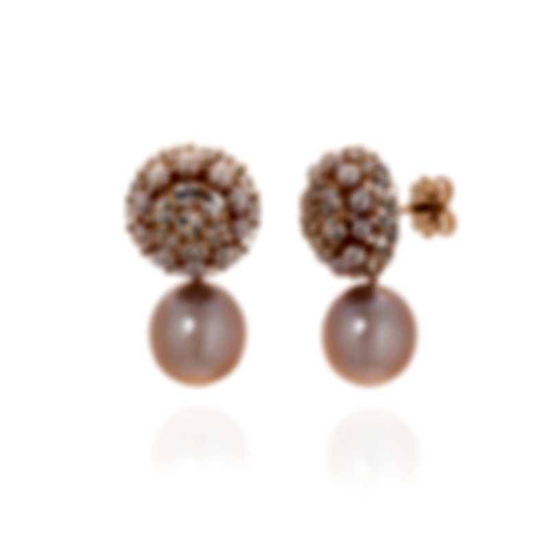 Mimi Milano Garbo 18k Rose Gold And Sapphire Earrings O243C3H