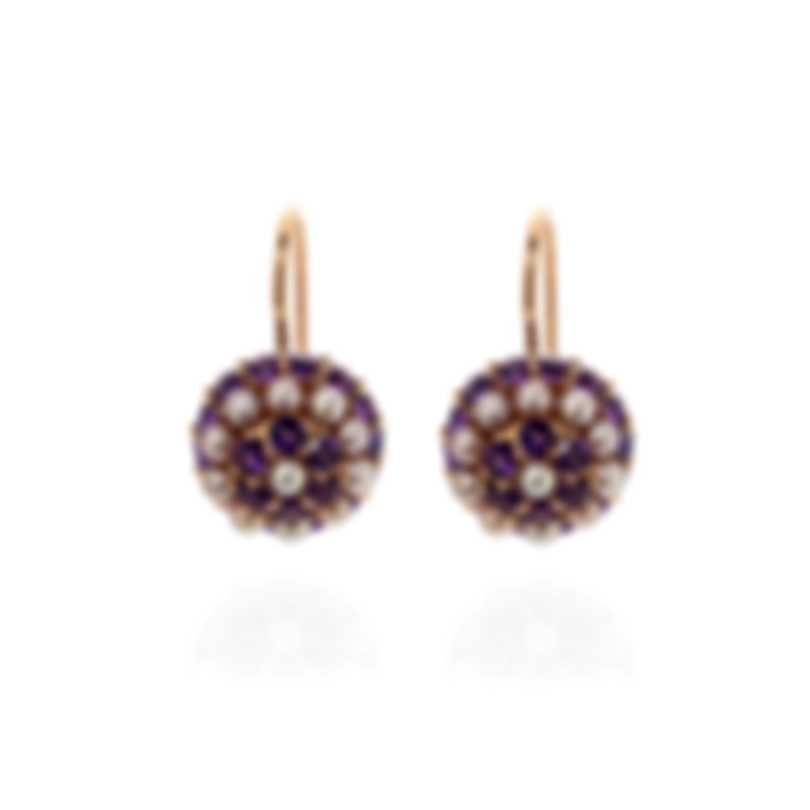 Mimi Milano Garbo 18k Rose Gold And Amethyst Earrings O241C3A