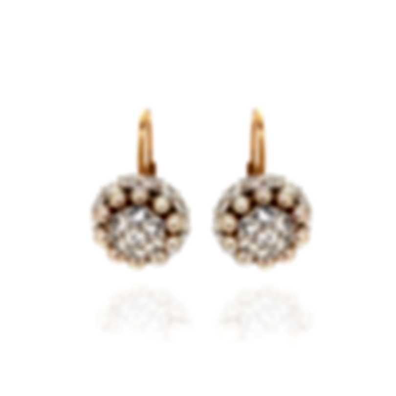 Mimi Milano Garbo 18k Rose Gold And Sapphire Earrings O241C3Z-A