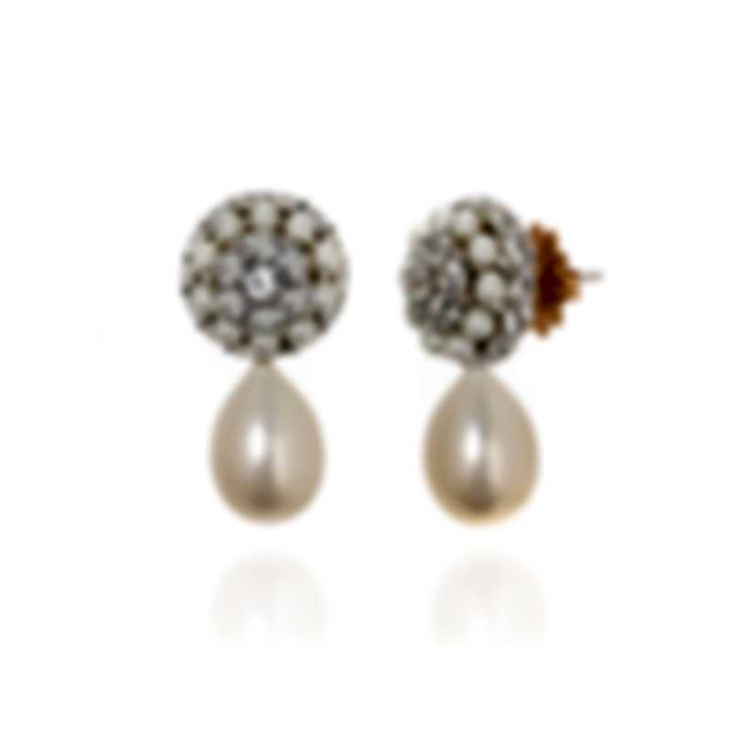 Mimi Milano Garbo 18k White & Rose Gold And Sapphire Earrings O242B1Z-A