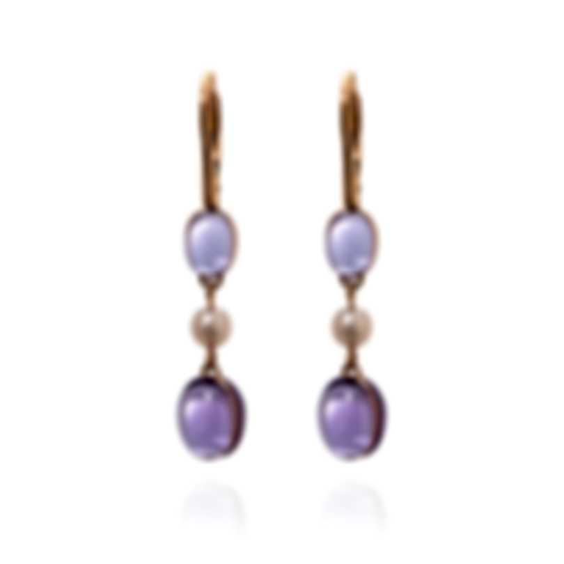 Mimi Milano Leela 18k Rose Gold And Pearl Earrings O263R3A