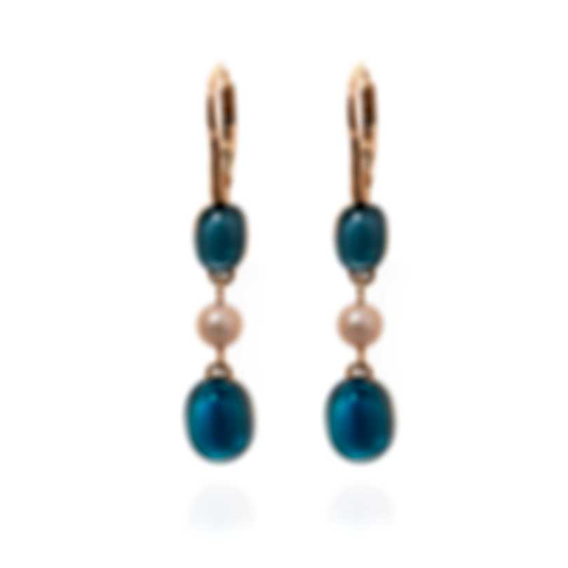 Mimi Milano Leela 18k Rose Gold And Pearl Earrings O263R3T