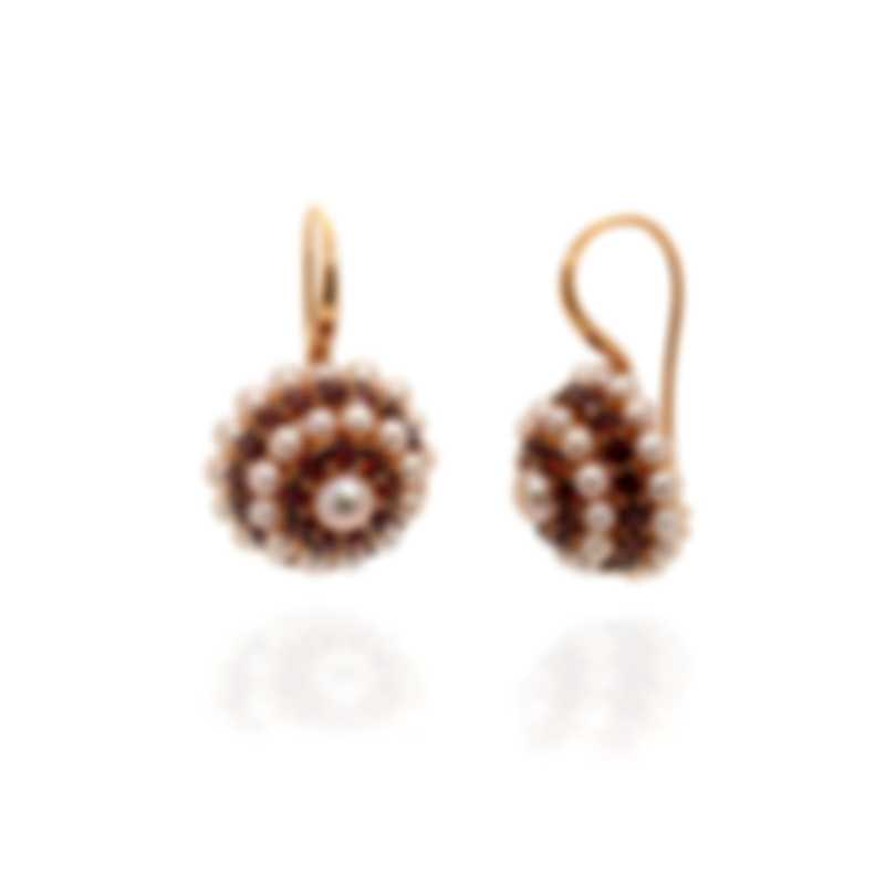 Mimi Milano Garbo 18k Yellow Gold And Pearl Earrings O280C3H
