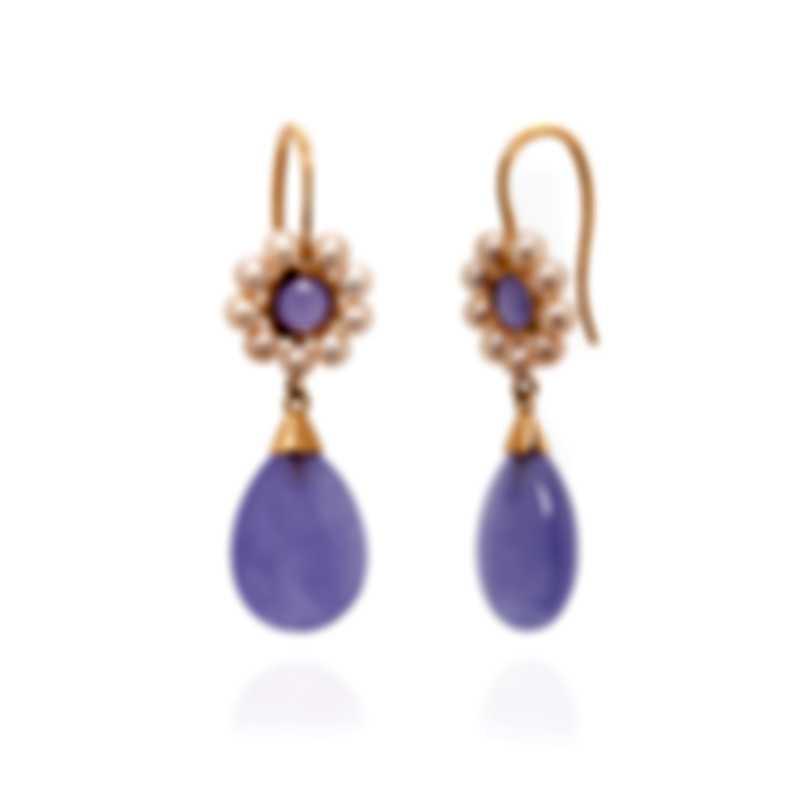 Mimi Milano Elizabeth 18k Rose Gold And Pearl Earrings O207RL3