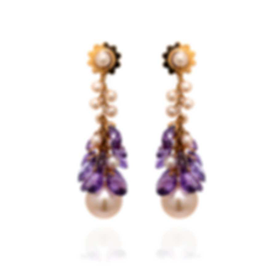 Mimi Milano St Tropez 18k Rose Gold And Amethyst Earrings O212R3A-MC
