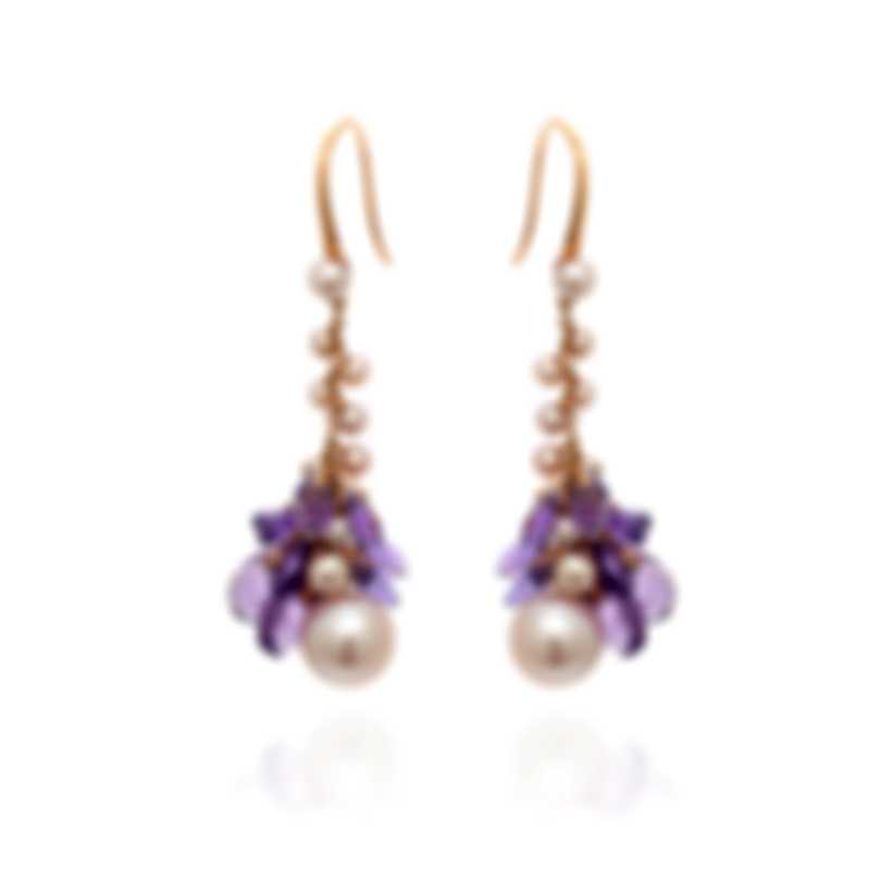 Mimi Milano St Tropez 18k Rose Gold And Amethyst Earrings O212R3A