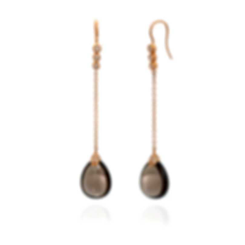 Mimi Milano Elizabeth 18k Rose Gold Diamond 0.38ct & Quartz Earrings O219R8FB-B