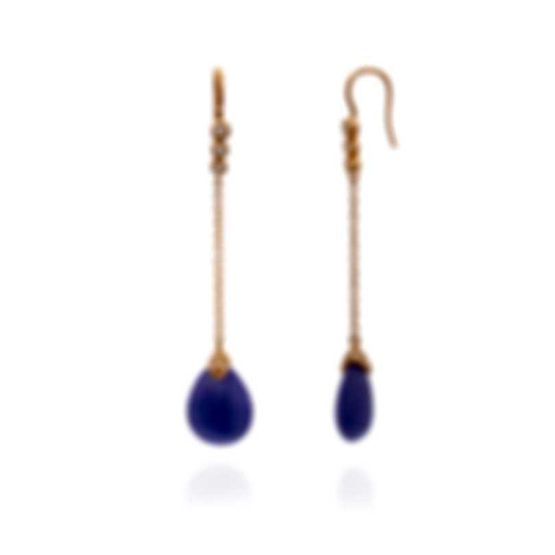 Mimi Milano Elizabeth 18k Rose Gold Diamond 0.38ct And Jade Earrings O219R8LB-A