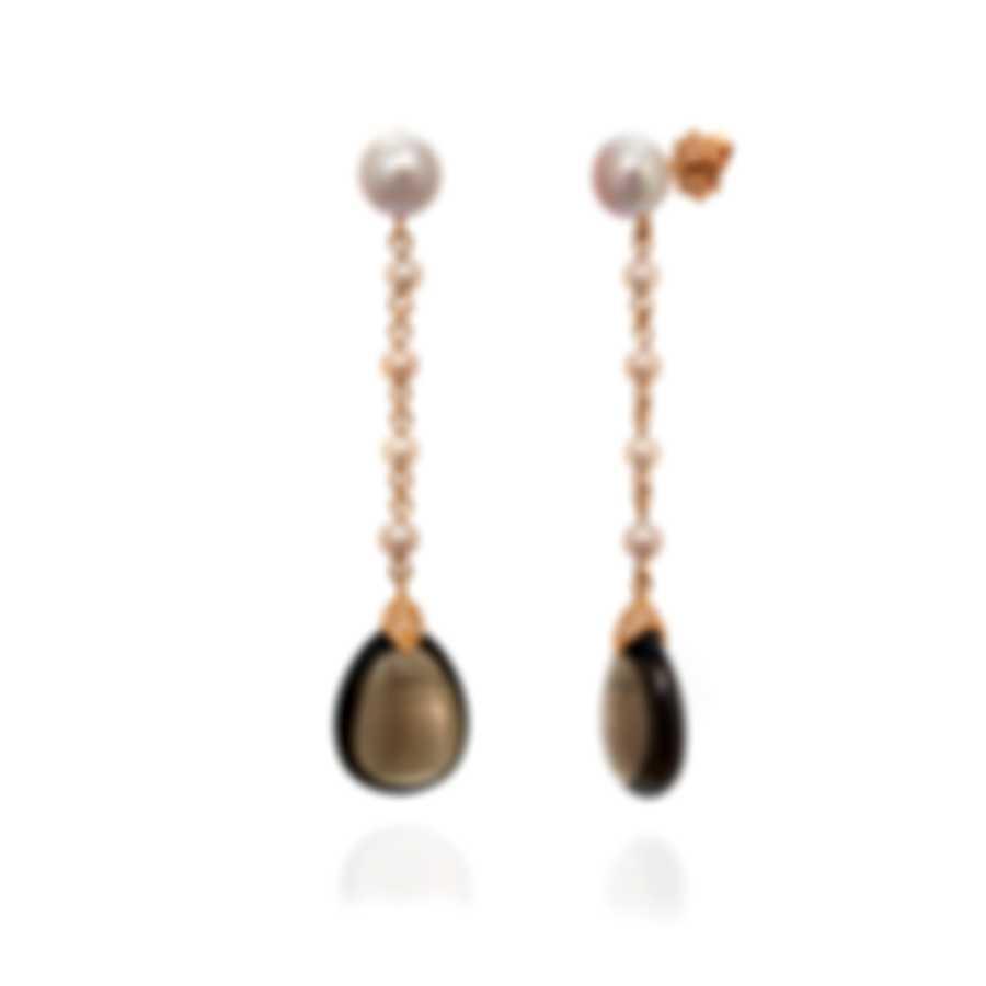 Mimi Milano Elizabeth 18k Rose Gold Diamond 0.28ct And Quartz Earrings O220R3FB