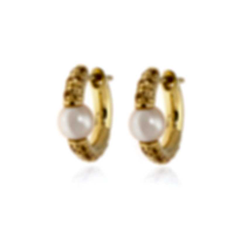 Mimi Milano Nagai Sirenette 18k Yellow Gold And Pearl Earrings O365G2G
