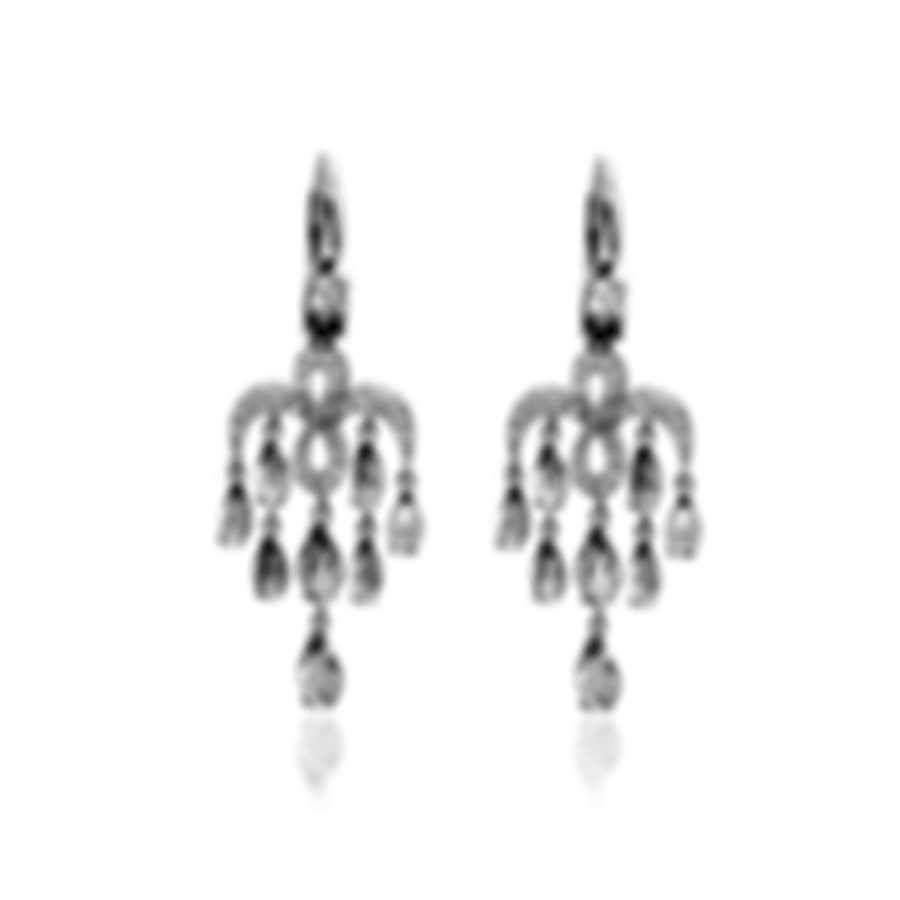 Mimi Milano Angie 18k White Gold Diamond 0.75ct And Topaz Earrings O383B8T1B
