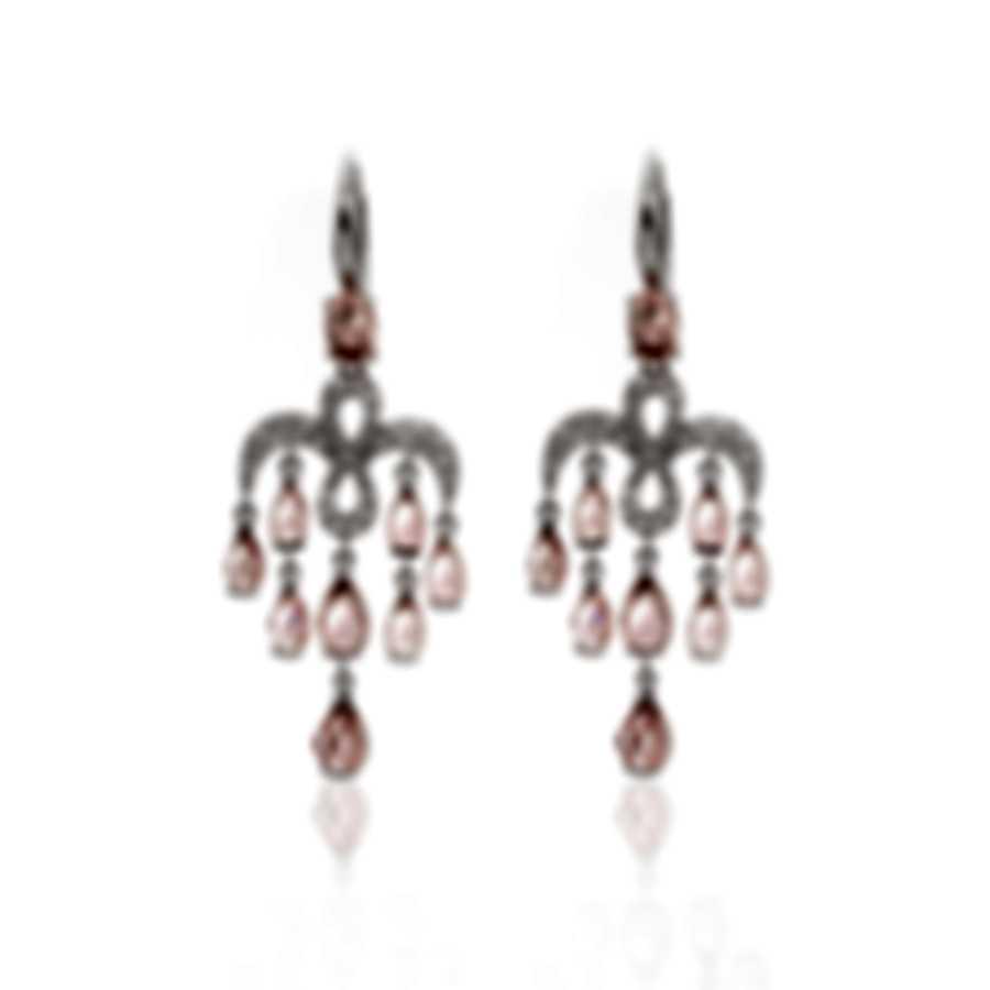 Mimi Milano Angie 18k White Gold Diamond 0.38ct & Tourmaline Earrings O383B8UB
