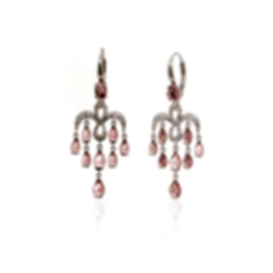 Mimi Milano Angie 18k White Gold Diamond Ct And Tourmaline Earrings O383B8Z6